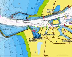 kaart Ijmuiden zeehaven