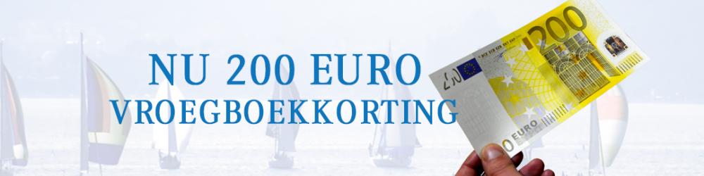 200 euro vroegboekkorting